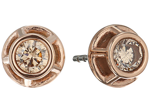 Fossil Iconic Glitz Studs Earrings - Rose Gold/Peach