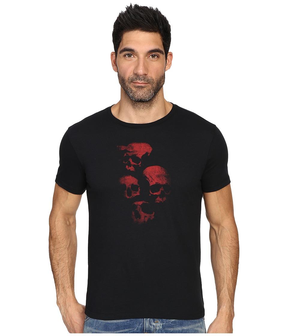 John Varvatos Star U.S.A. - Skulls Graphic T-Shirt K2935S3B (Black) Men