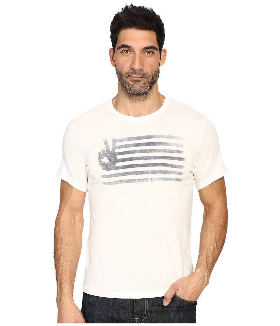 John Varvatos Star U.S.A. - Peace Flag Graphic T-Shirt K2923S3B (Salt) Men