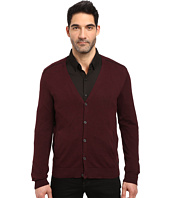 John Varvatos Star U.S.A. - Long Sleeve Cardigan Sweater w/ Contrast Piping Y1327S3B
