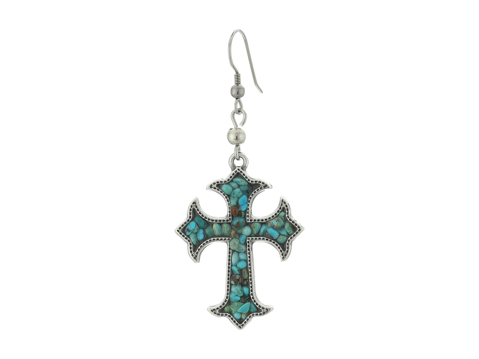 m f western cross turquoise necklace earrings set zappos