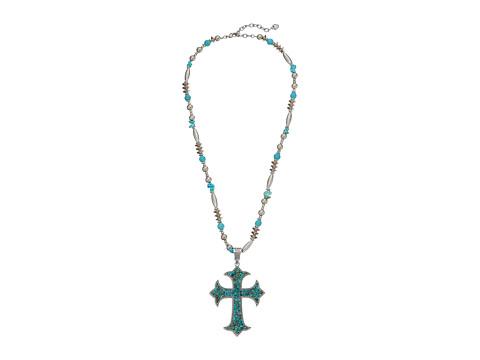 M&F Western Cross Turquoise Necklace/Earrings Set