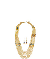 M&F Western - Beaded Feather Necklace/Earrings Set