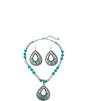 M&F Western - Teardrop Turquoise Necklace/Earrings Set