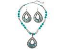 M&F Western - Teardrop Turquoise Necklace/Earrings Set