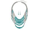 M&F Western - 7 Strand Beaded Necklace/Earrings Set