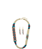 M&F Western - Beaded Multi Strand Necklace/Earrings Set