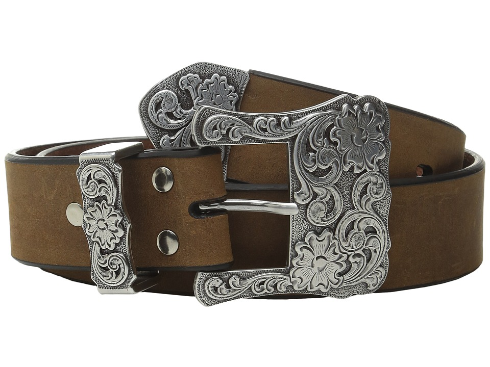 M&F Western - Three-Piece Silver Buckle Belt (Brown) Wome...