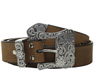 M&F Western Three-Piece Silver Buckle Belt