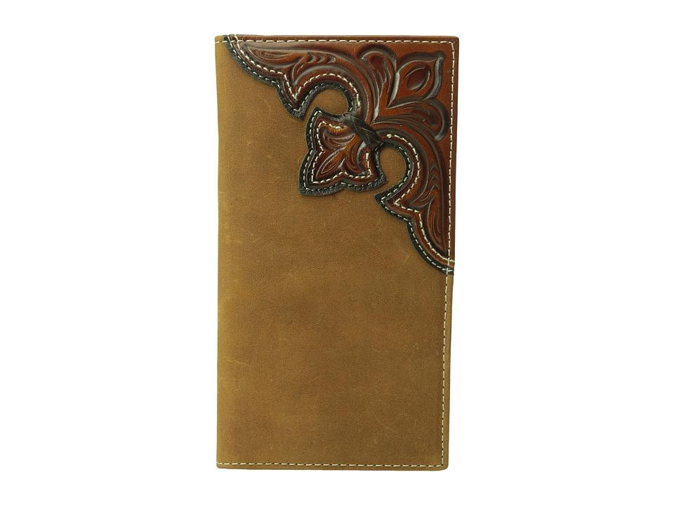MampF Western Embossed Corner Rodeo Wallet Brown Wallet Handbags