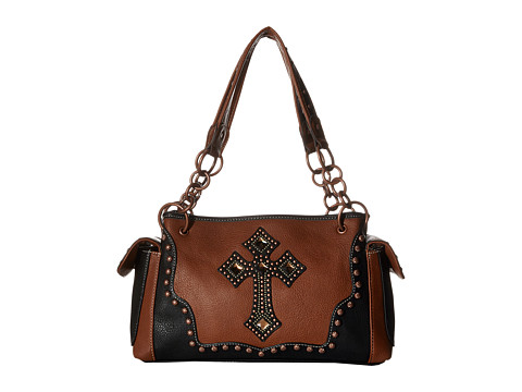 M&F Western Delilah Satchel - Rust/Black