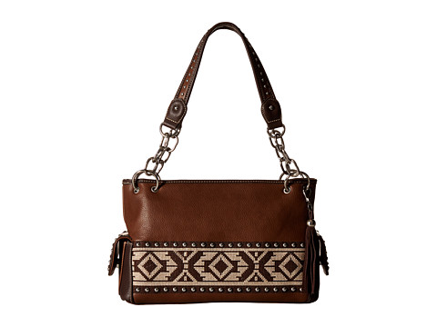 M&F Western Shania Satchel - Brown
