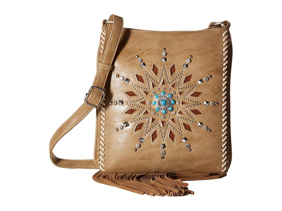 M & F Western - Stella Messenger Bag (Tan) Messenger Bags