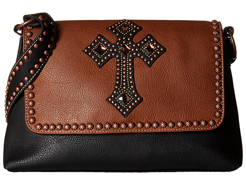 M&F Western Delilah Shoulder Bag - Rust/Black
