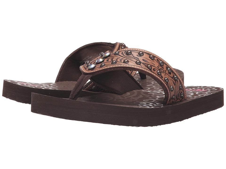 MampF Western Montana Brown Womens Sandals