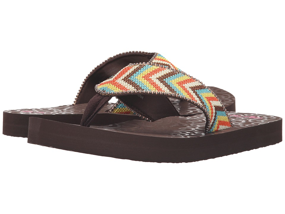 MampF Western Angie Multi Womens Sandals