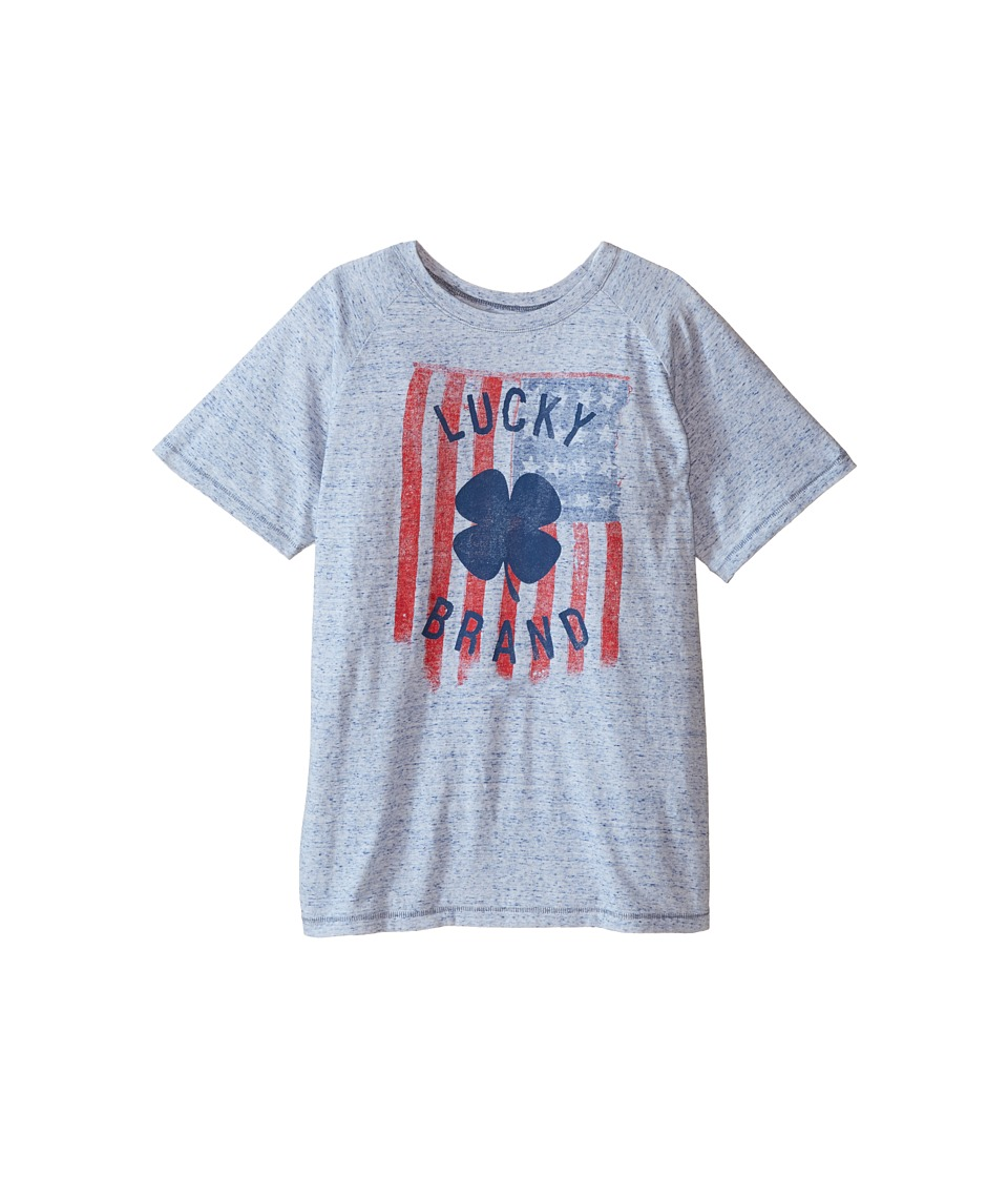 Lucky Brand Kids Flag Tee (Big Kids) (White) Boy