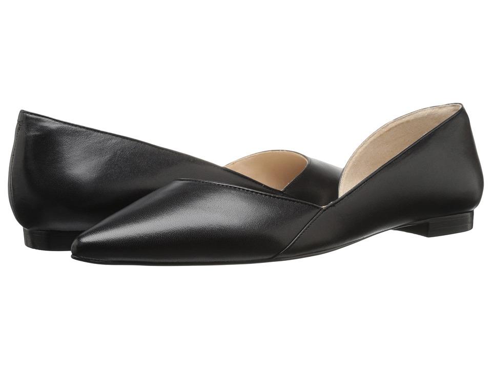 Marc Fisher LTD - Sunny dOrsay Flat (Black Leather) Womens Dress Flat Shoes