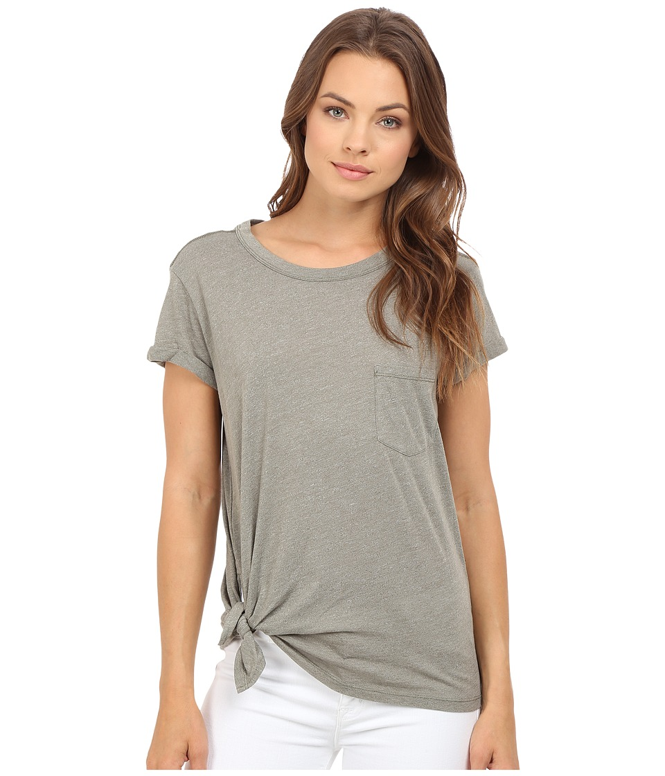 G-Star - Rovi Short Sleeve Pocket Tee in Lightweight Yeki Jersey (Ensis Green Heather) Women