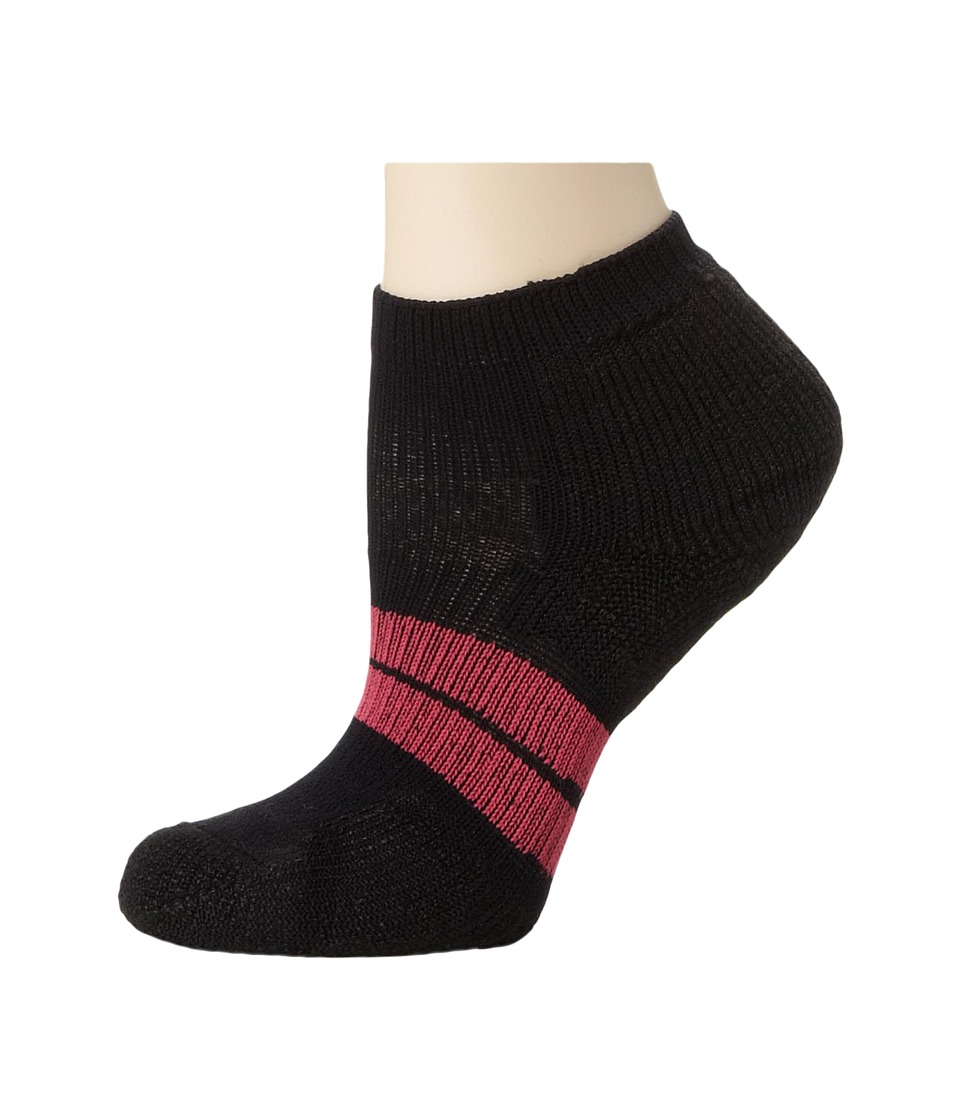 Thorlos 84N No Show Single Pair Black Womens No Show Socks Shoes