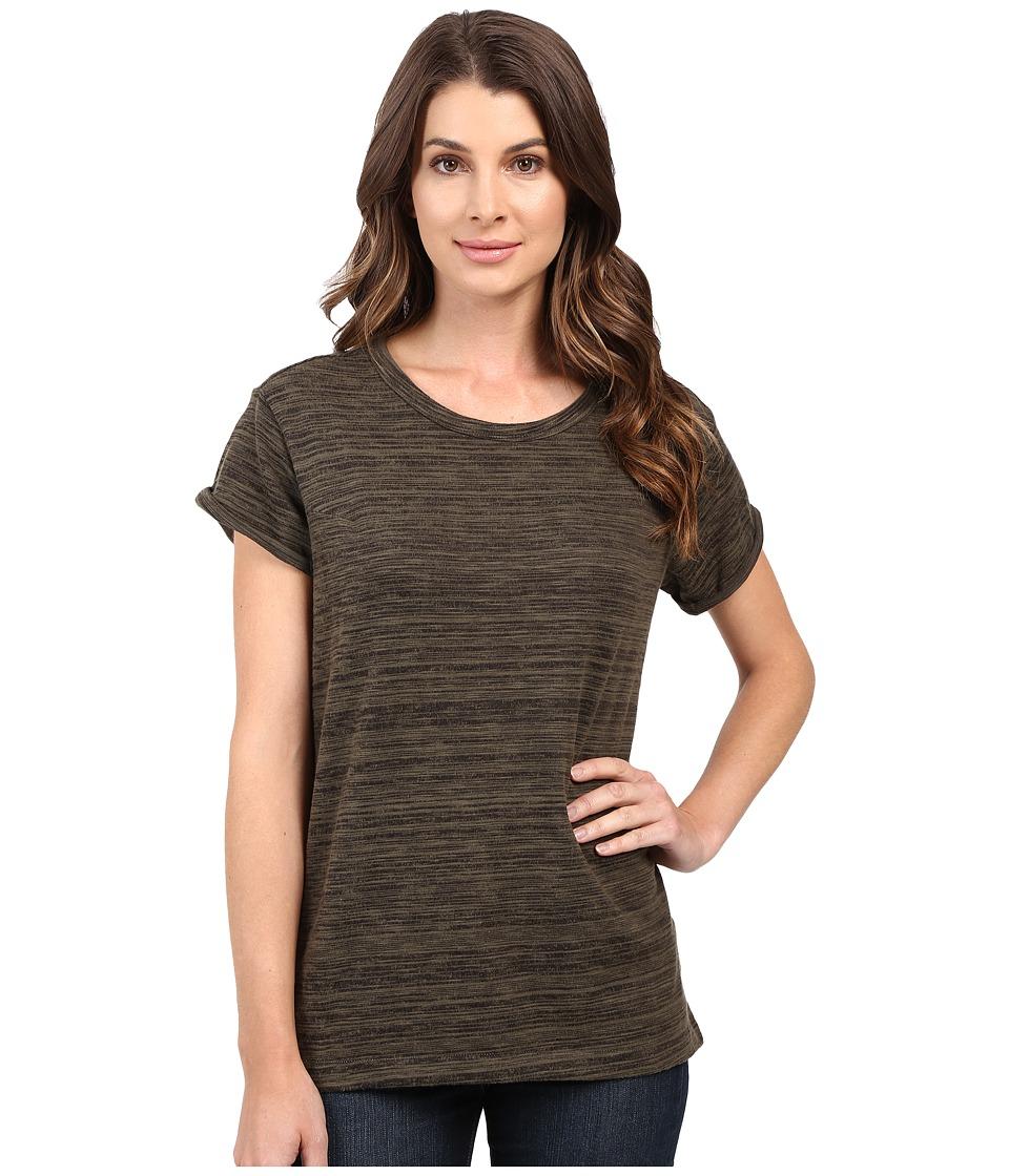 G-Star - Tigoni Loose Short Sleeve Tee in Brushed Carbon Jersey (Asfalt) Women