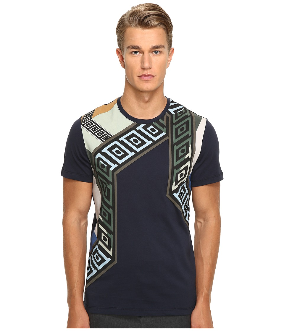 Versace Collection - Printed T-Shirt (Navy) Men