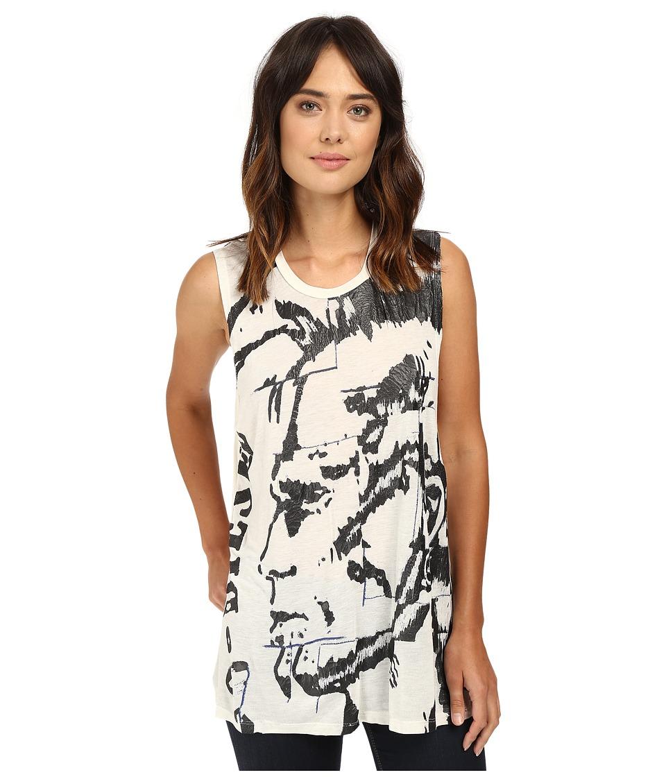 Diesel T-Triton-Q T-Shirt (Pale/Grey) Women