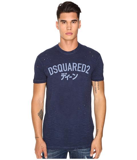 DSQUARED2 Long Cool Fit Japanese Indigo T-Shirt