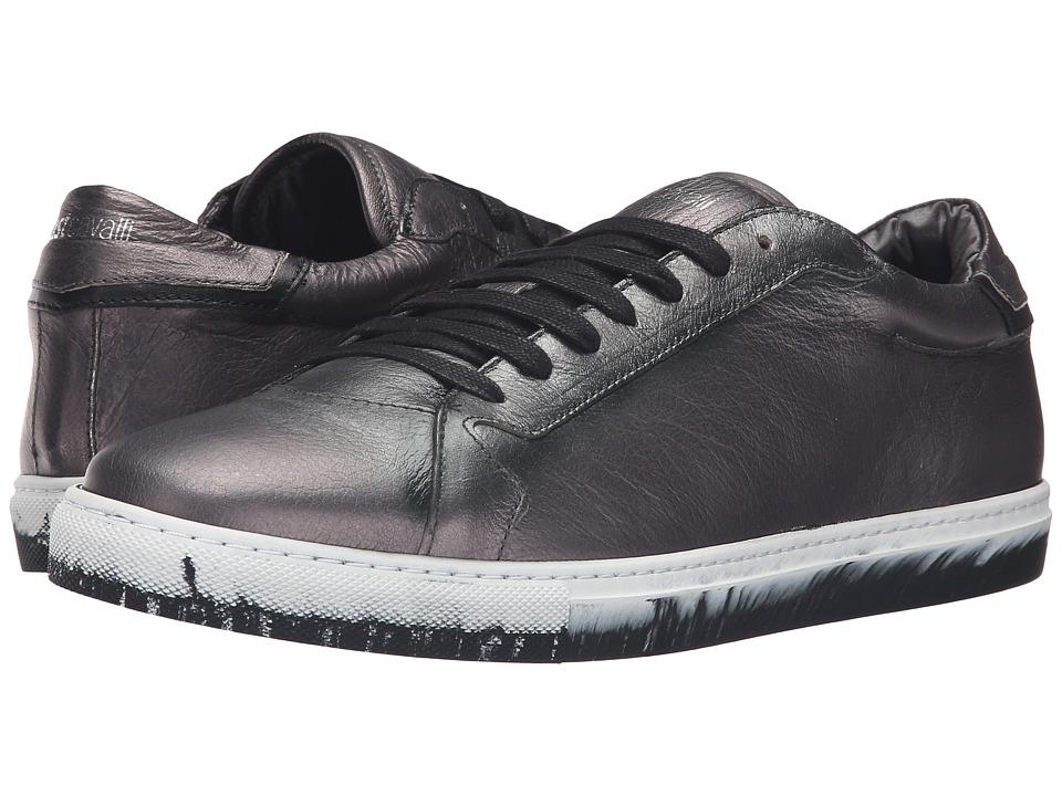 Just Cavalli Matt Lame Leather Sneakers (Gargoyle) Men