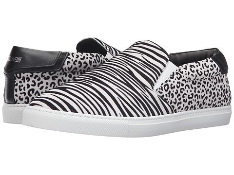 Just Cavalli Flock Zebra and Jaguar Leather Sneakers