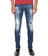 DSQUARED2 - Planked Patch Destroyed Slim Jeans