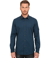 Just Cavalli - Slim Fit Stone Wash Woven Shirt