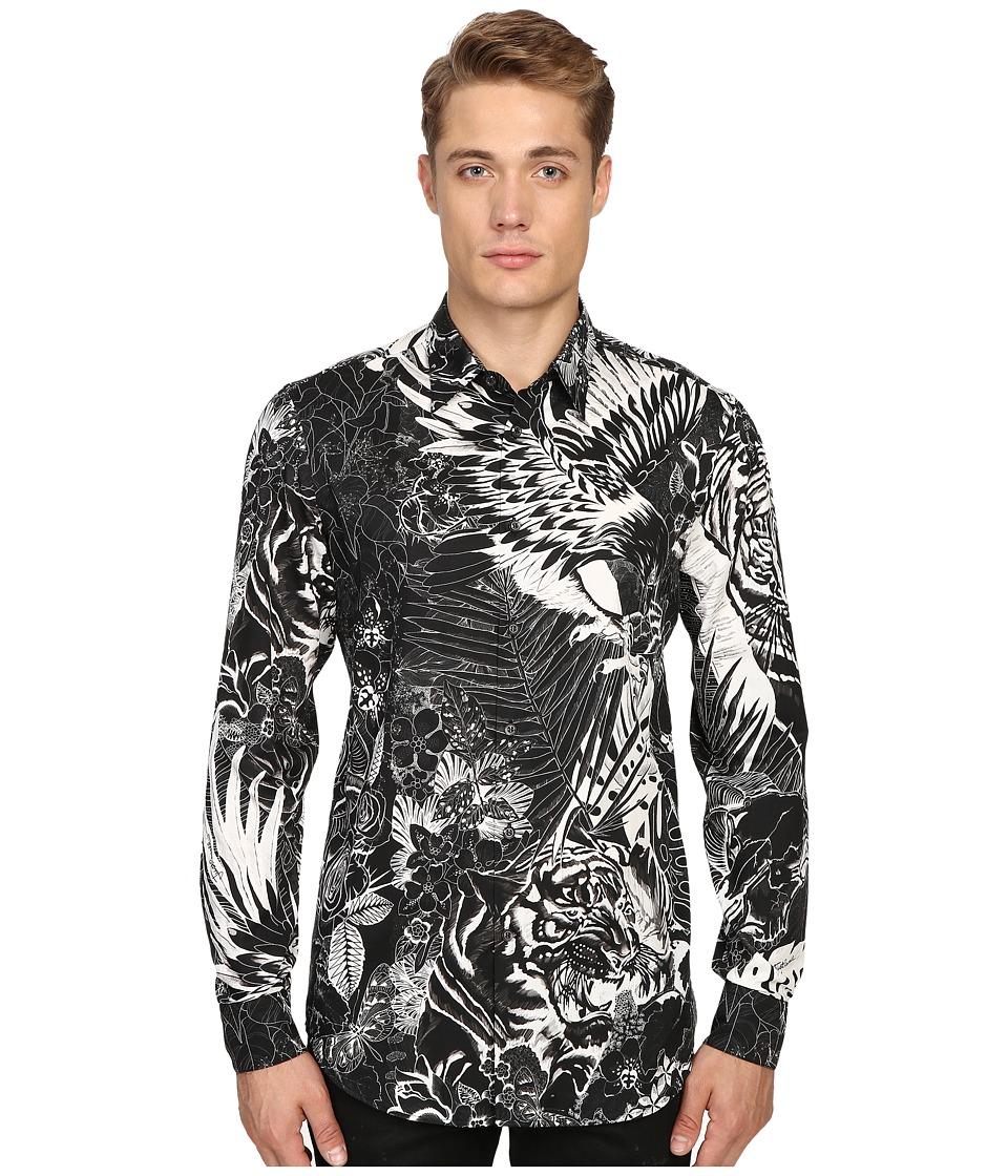 Just Cavalli - Jungle Tattoo Print Shirt (Black Variant) Men