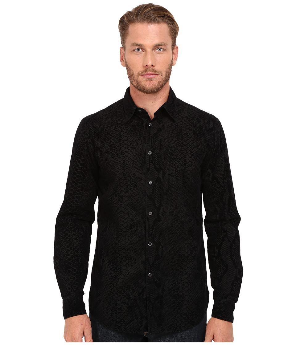 Just Cavalli - Regular Fit Reptile Print Shirt (Black Variant) Men