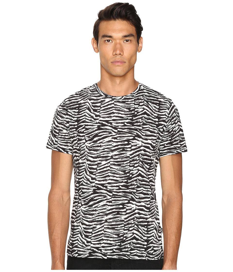 Just Cavalli - Slim Fit Zebra Vibe Printed T-Shirt (Black Variant) Men