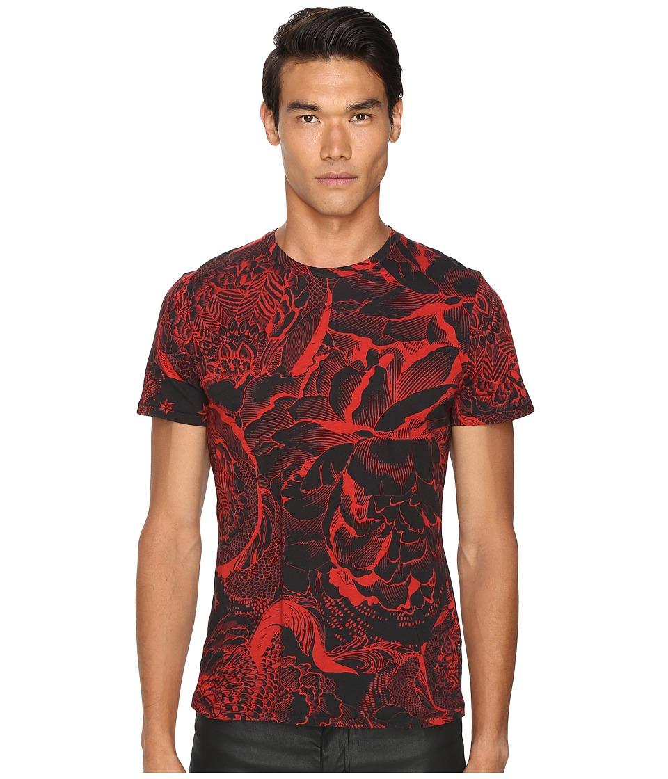 Just Cavalli - Slim Fit Rock Romance Printed T-Shirt (True Red Variant) Men