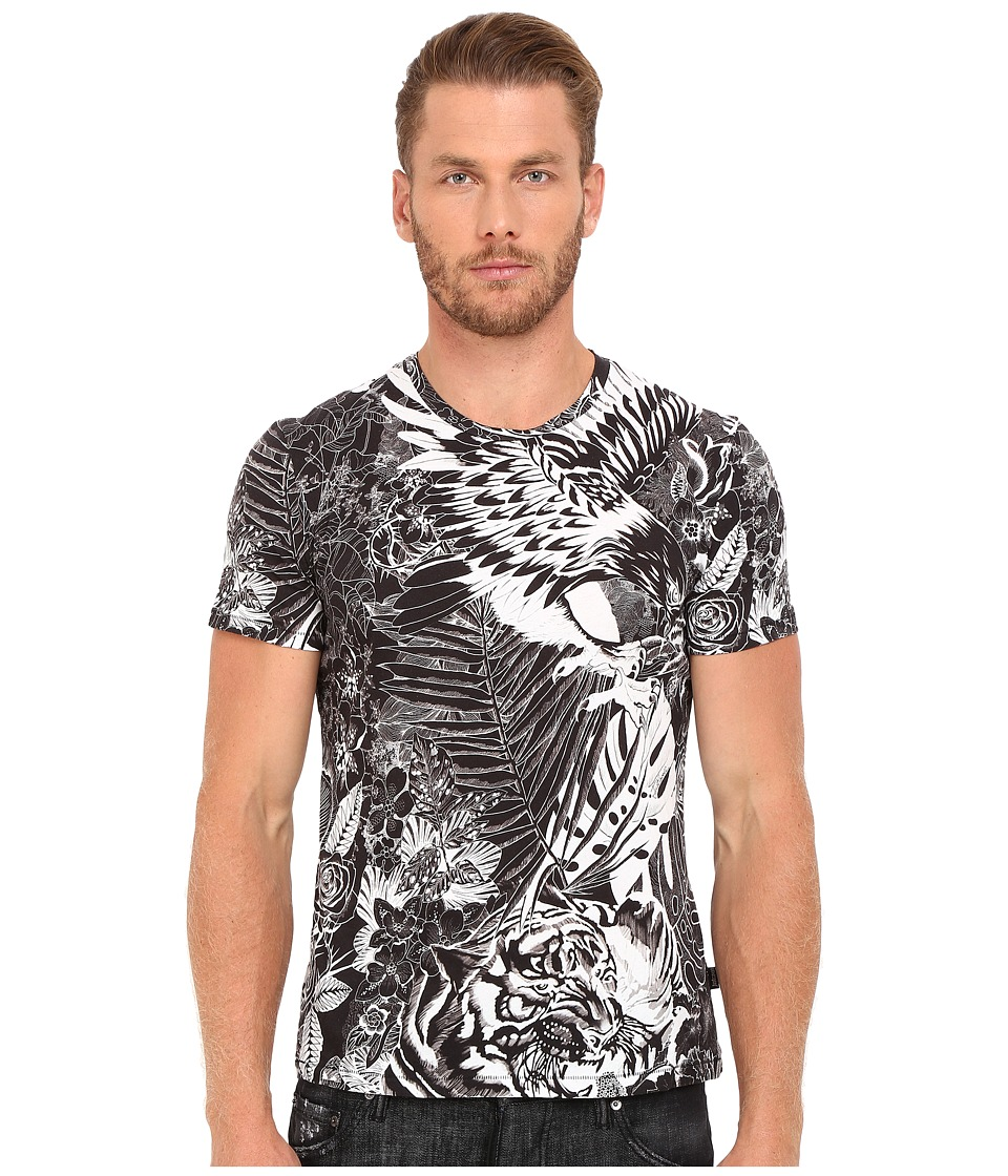 Just Cavalli - Slim Fit Jungle Tattoo Printed T-Shirt (Black Variant) Men