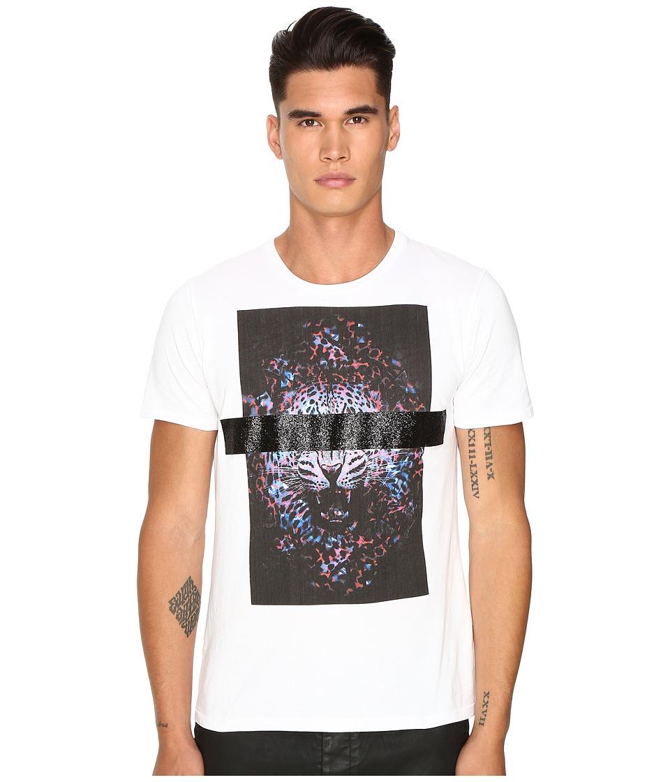 Just Cavalli - Slim Fit Tiger Jersey T-Shirt (White) Men