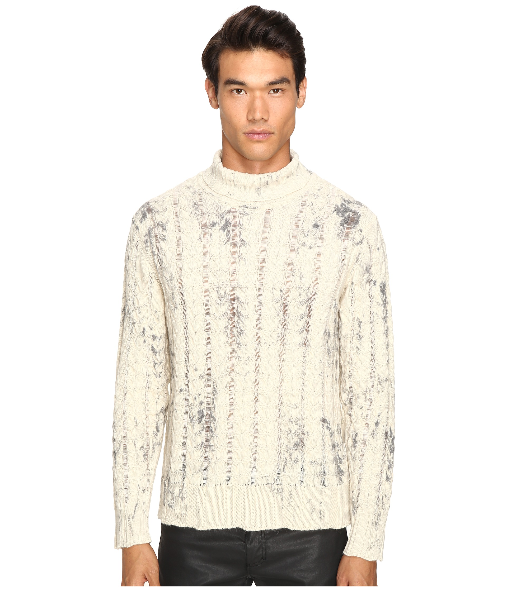 just cavalli alpaca tie dye pullover papyrus free shipping both ways. Black Bedroom Furniture Sets. Home Design Ideas