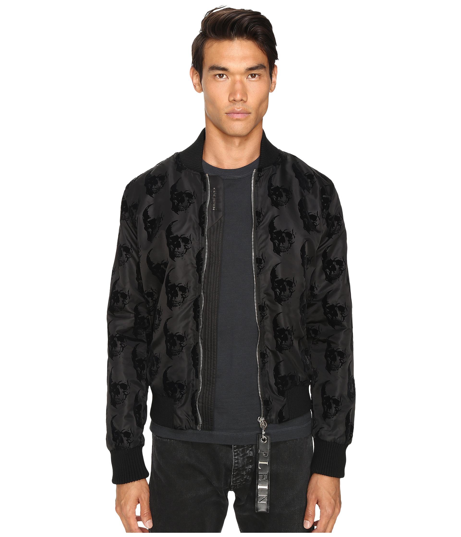 philipp plein think sweat jacket black free shipping both ways. Black Bedroom Furniture Sets. Home Design Ideas