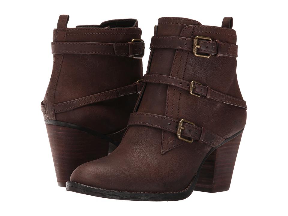 Nine West Fitz (Dark Brown Leather) Women