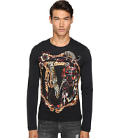 Versace Jeans - Classic Printed Long Sleeve Tee