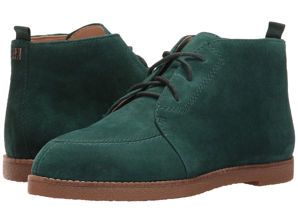 Vintage Style Boots Nine West - Quarena Dark Green Suede Womens Shoes $99.00 AT vintagedancer.com