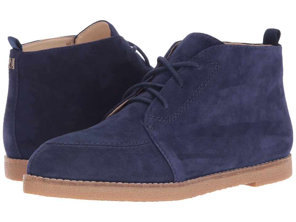 Vintage Style Boots Nine West - Quarena Navy Suede Womens Shoes $99.00 AT vintagedancer.com