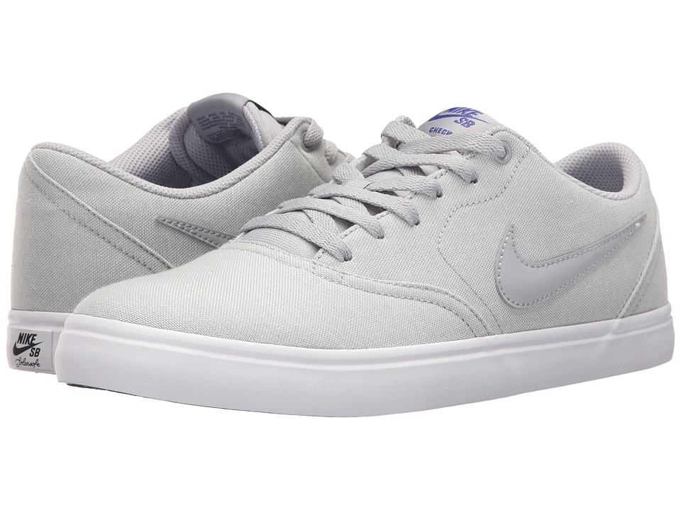 Nike SB Check Solar Canvas Premium (Wolf Grey/Deep Night/Wolf Grey) Men