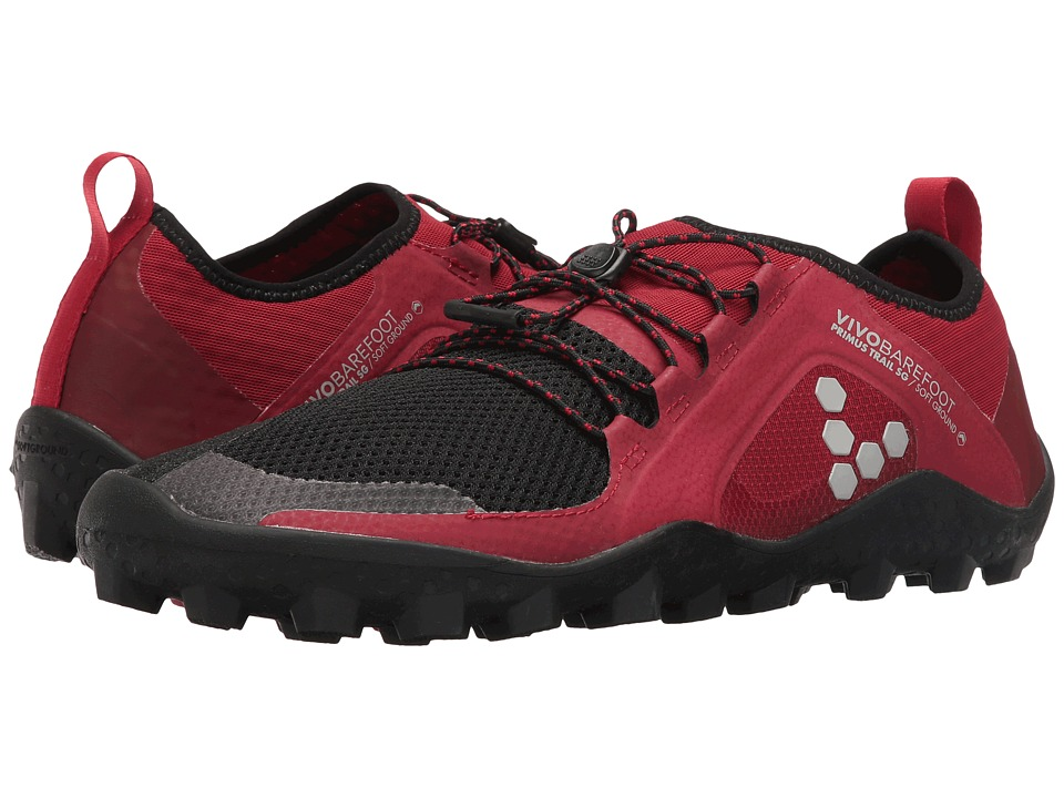 Vivobarefoot - Primus Trail Soft Ground (Red/Black) Mens Shoes