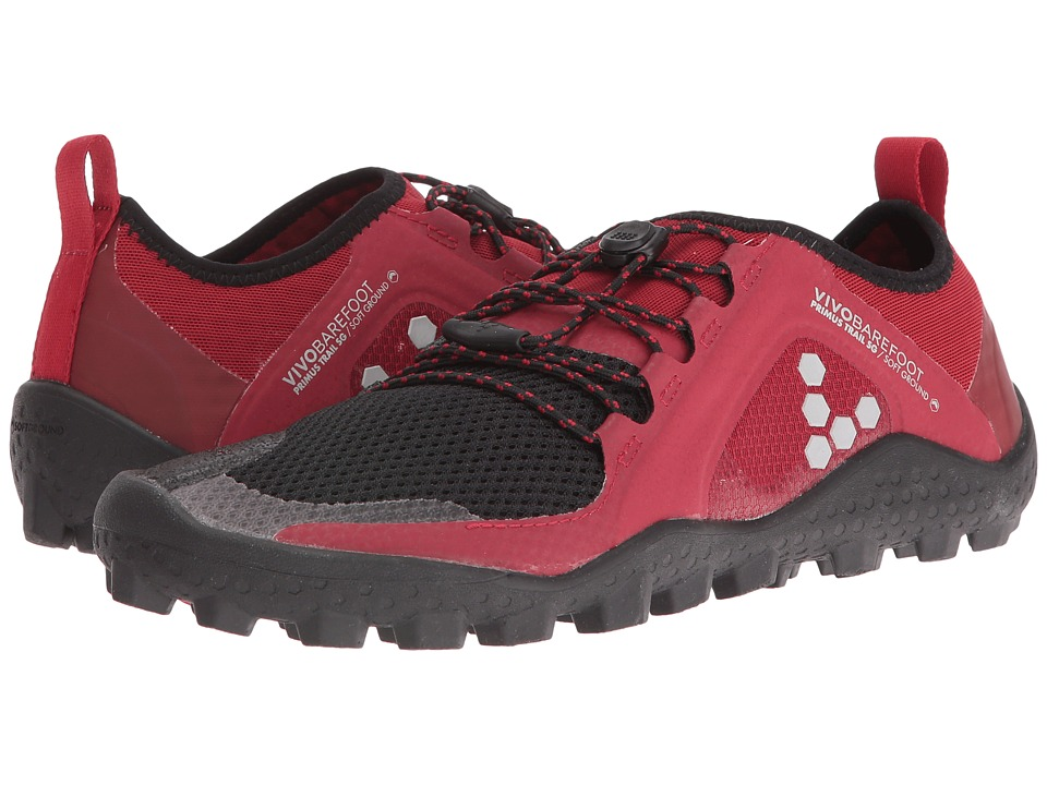 Vivobarefoot - Primus Trail Soft Ground (Red/Black) Womens Shoes