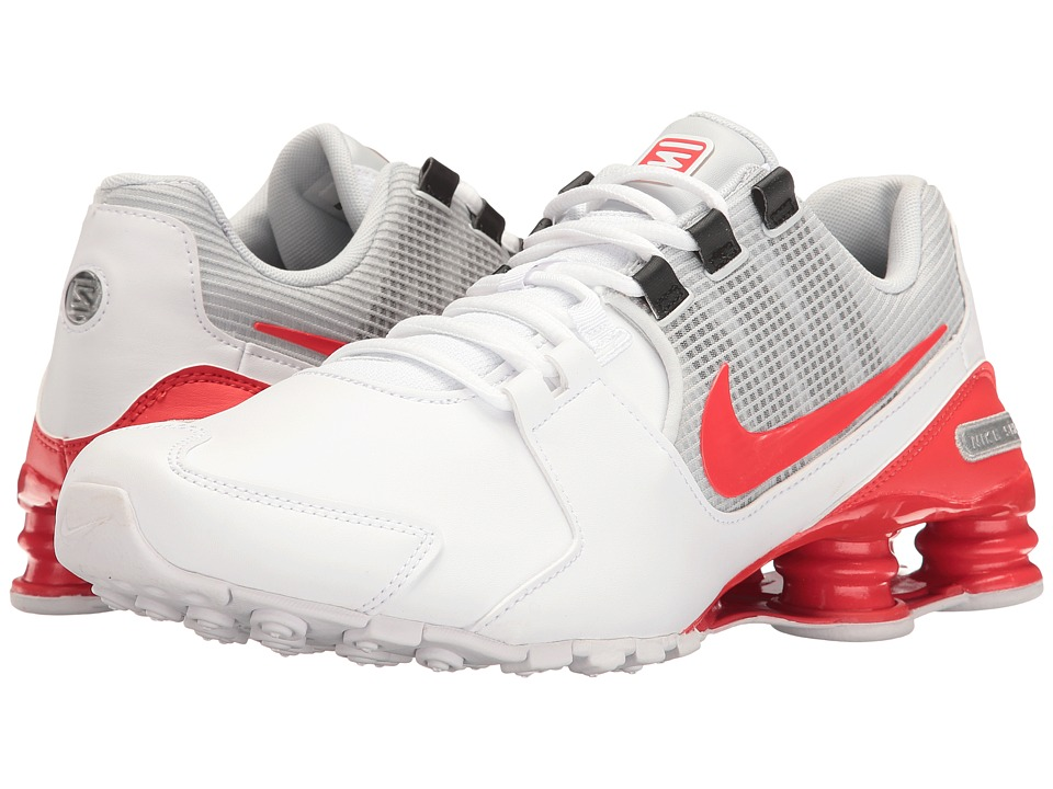 Nike Shox Avenue Leather (White/Metallic Silver/Pure Platinum/Max Orange) Men