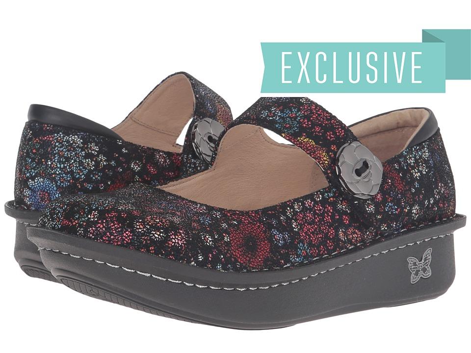 Alegria Paloma (Midnight Garden Suede) Maryjane Shoes
