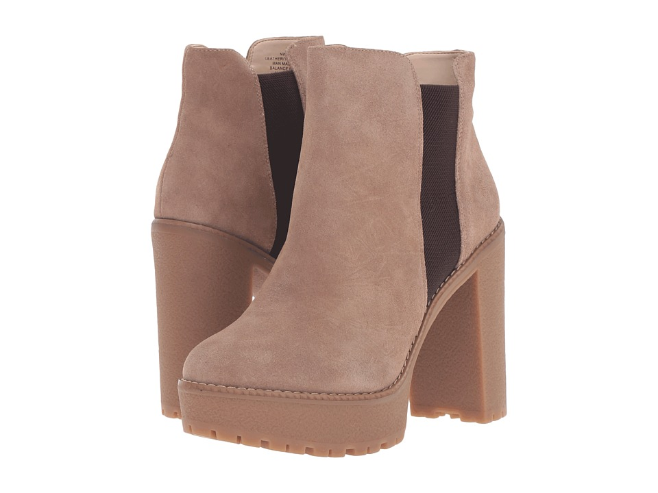 Vintage Style Boots Nine West - Idelle NaturalDark Brown Suede Womens Shoes $139.00 AT vintagedancer.com